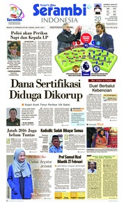 Cover Serambi Indonesia 25 Februari 2018