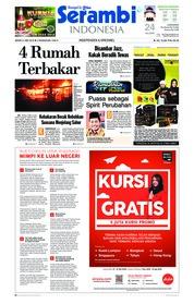 Cover Serambi Indonesia 21 Mei 2018