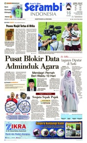 Cover Serambi Indonesia 24 Juni 2018