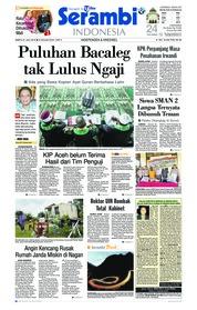 Cover Serambi Indonesia 21 Juli 2018