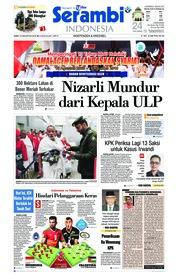 Cover Serambi Indonesia 15 Agustus 2018