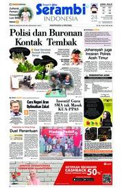 Cover Serambi Indonesia 20 Agustus 2018
