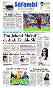 Cover Serambi Indonesia 23 September 2018