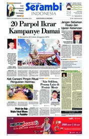 Cover Serambi Indonesia 24 September 2018