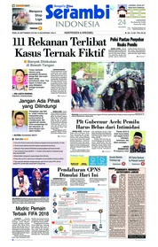 Cover Serambi Indonesia 26 September 2018
