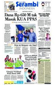 Cover Serambi Indonesia 12 Oktober 2018