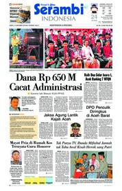 Cover Serambi Indonesia 13 Oktober 2018