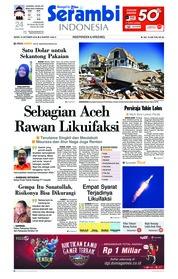 Cover Serambi Indonesia 15 Oktober 2018