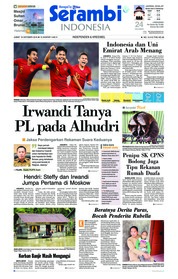 Cover Serambi Indonesia 19 Oktober 2018