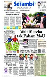Serambi Indonesia Cover 15 November 2018