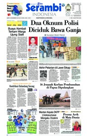 Cover Serambi Indonesia 08 Desember 2018