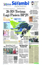 Cover Serambi Indonesia 18 Januari 2019