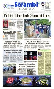 Cover Serambi Indonesia 22 Januari 2019