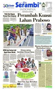 Cover Serambi Indonesia 20 Februari 2019