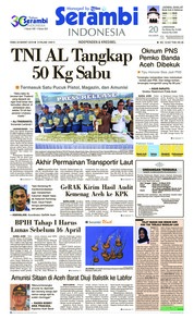 Cover Serambi Indonesia 20 Maret 2019