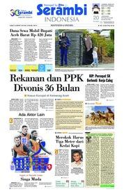 Cover Serambi Indonesia 22 Maret 2019