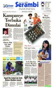 Cover Serambi Indonesia 24 Maret 2019