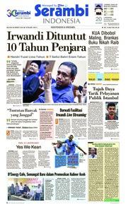 Serambi Indonesia Cover 26 March 2019