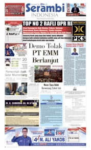 Cover Serambi Indonesia 11 April 2019