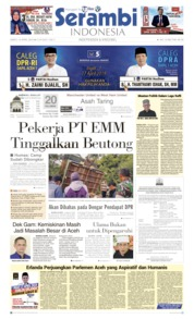 Cover Serambi Indonesia 13 April 2019