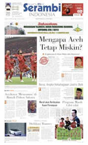 Cover Serambi Indonesia 15 April 2019