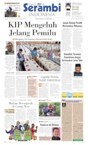 Cover Serambi Indonesia 16 April 2019