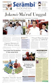 Cover Serambi Indonesia 18 April 2019