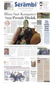 Serambi Indonesia Cover 12 May 2019