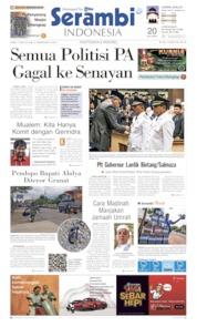 Serambi Indonesia Cover 15 May 2019
