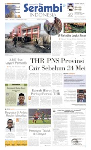 Serambi Indonesia Cover 17 May 2019