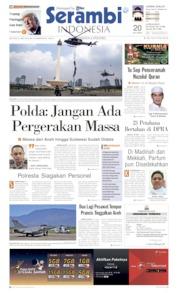 Cover Serambi Indonesia 21 Mei 2019