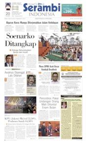 Cover Serambi Indonesia 22 Mei 2019