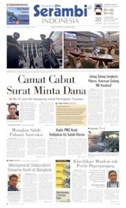 Cover Serambi Indonesia 14 Juni 2019