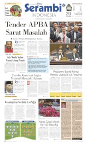Cover Serambi Indonesia 15 Juni 2019