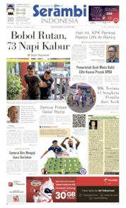 Cover Serambi Indonesia 17 Juni 2019