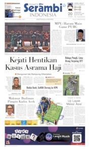 Cover Serambi Indonesia 20 Juni 2019