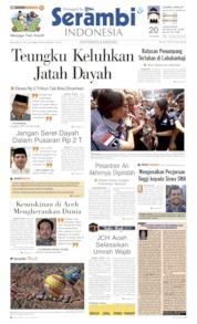 Cover Serambi Indonesia 23 Juli 2019