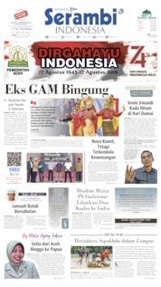 Cover Serambi Indonesia 16 Agustus 2019