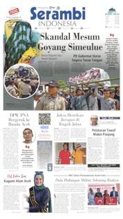 Cover Serambi Indonesia 21 Agustus 2019