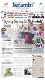 Cover Serambi Indonesia 24 Agustus 2019