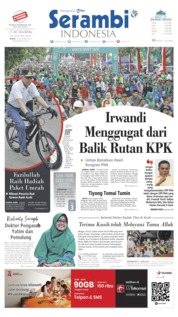 Cover Serambi Indonesia 16 September 2019