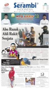 Serambi Indonesia Cover 21 September 2019
