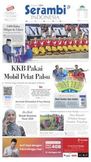 Cover Serambi Indonesia 22 September 2019
