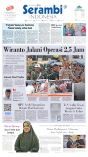 Cover Serambi Indonesia 11 Oktober 2019