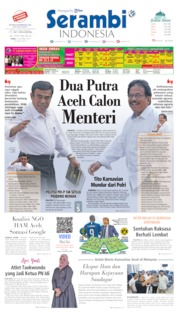 Cover Serambi Indonesia 23 Oktober 2019