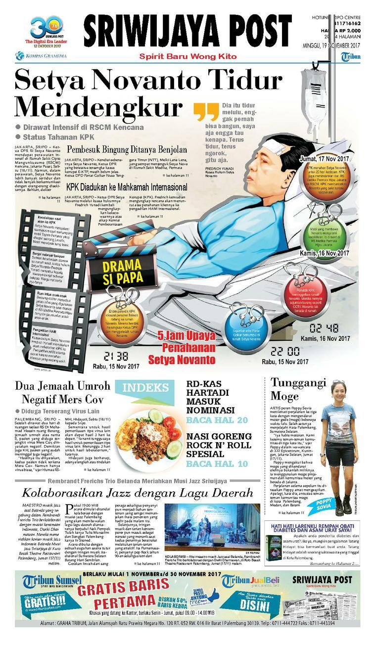 Koran Digital Sriwijaya Post 19 November 2017