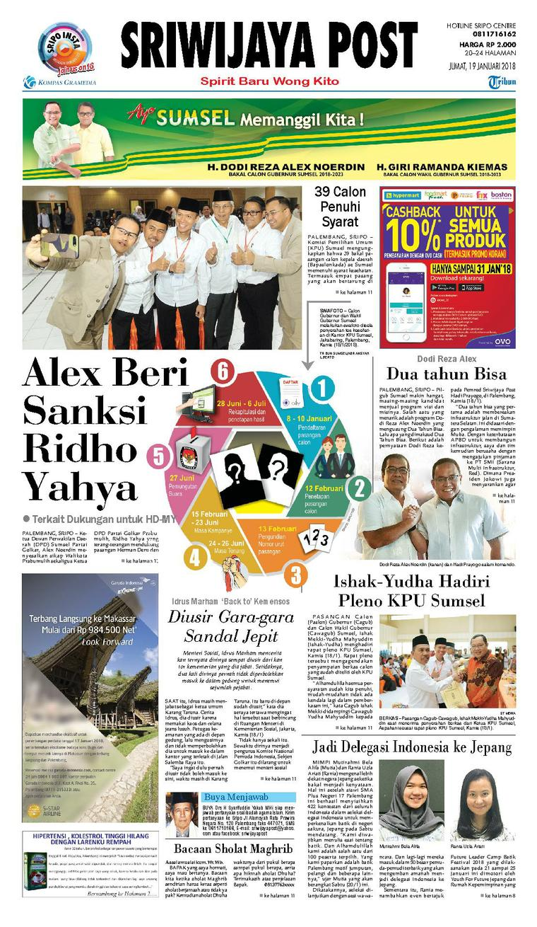 Koran Digital Sriwijaya Post 19 Januari 2018