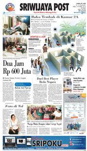 Cover Sriwijaya Post 14 Maret 2018