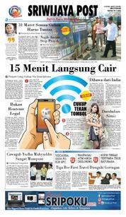 Cover Sriwijaya Post 20 Maret 2018