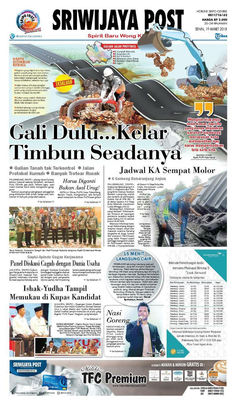 Koran Digital Sriwijaya Post 19 Maret 2018